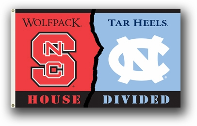 North Carolina / North Carolina State Premium Rivalry House Divided 3' x 5' Flag
