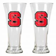 North Carolina State Wolf Pack Premiere Pilsner Glass Set