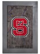 "North Carolina State Wolfpack 11"" x 19"" City Map Framed Sign"