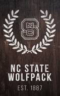 "North Carolina State Wolfpack 11"" x 19"" Laurel Wreath Sign"