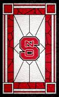 """North Carolina State Wolfpack 11"""" x 19"""" Stained Glass Sign"""