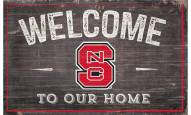 """North Carolina State Wolfpack 11"""" x 19"""" Welcome to Our Home Sign"""