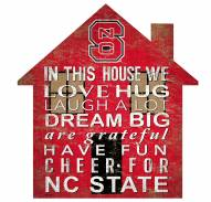"""North Carolina State Wolfpack 12"""" House Sign"""
