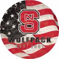 "North Carolina State Wolfpack 12"" Team Color Flag Circle Sign"