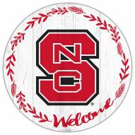 """North Carolina State Wolfpack 12"""" Welcome Circle Sign"""