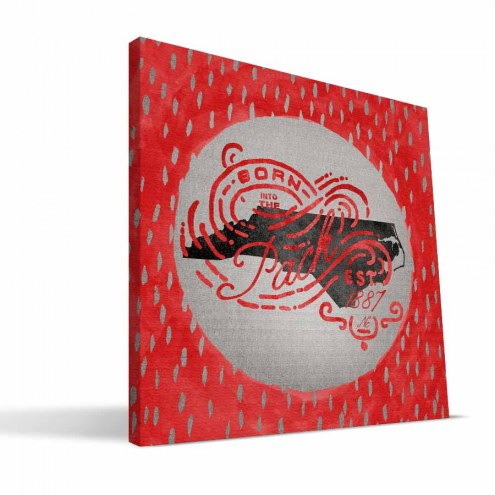 "North Carolina State Wolfpack 12"" x 12"" Born a Fan Canvas Print"