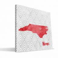 "North Carolina State Wolfpack 12"" x 12"" Home Canvas Print"