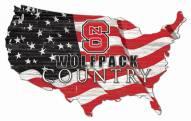 "North Carolina State Wolfpack 15"" USA Flag Cutout Sign"