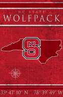 "North Carolina State Wolfpack 17"" x 26"" Coordinates Sign"
