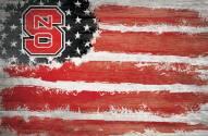 "North Carolina State Wolfpack 17"" x 26"" Flag Sign"
