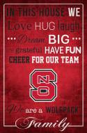 """North Carolina State Wolfpack 17"""" x 26"""" In This House Sign"""