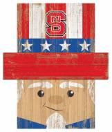 "North Carolina State Wolfpack 19"" x 16"" Patriotic Head"