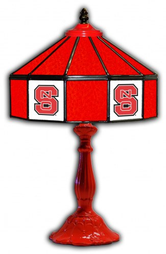 """North Carolina State Wolfpack 21"""" Glass Table Lamp"""