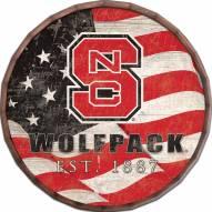 "North Carolina State Wolfpack 24"" Flag Barrel Top"