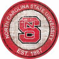 "North Carolina State Wolfpack 24"" Heritage Logo Round Sign"
