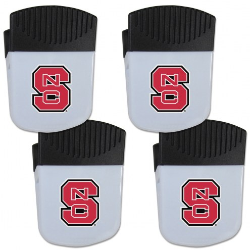 North Carolina State Wolfpack 4 Pack Chip Clip Magnet with Bottle Opener