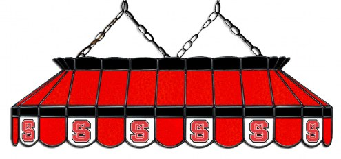 """North Carolina State Wolfpack 40"""" Stained Glass Pool Table Light"""