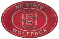 "North Carolina State Wolfpack 46"" Heritage Logo Oval Sign"