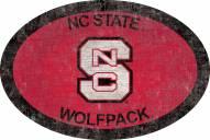 "North Carolina State Wolfpack 46"" Team Color Oval Sign"
