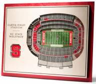 North Carolina State Wolfpack 5-Layer StadiumViews 3D Wall Art