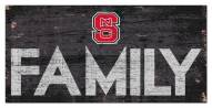 """North Carolina State Wolfpack 6"""" x 12"""" Family Sign"""