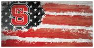 "North Carolina State Wolfpack 6"" x 12"" Flag Sign"