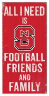 """North Carolina State Wolfpack 6"""" x 12"""" Friends & Family Sign"""