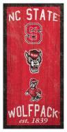 "North Carolina State Wolfpack 6"" x 12"" Heritage Sign"