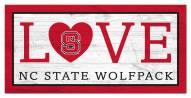 "North Carolina State Wolfpack 6"" x 12"" Love Sign"