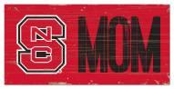 "North Carolina State Wolfpack 6"" x 12"" Mom Sign"