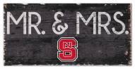 "North Carolina State Wolfpack 6"" x 12"" Mr. & Mrs. Sign"