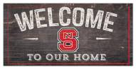 """North Carolina State Wolfpack 6"""" x 12"""" Welcome Sign"""