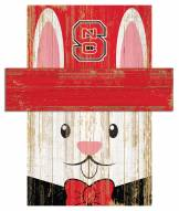 """North Carolina State Wolfpack 6"""" x 5"""" Easter Bunny Head"""