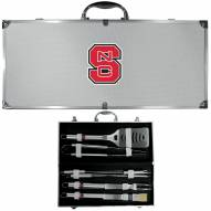 North Carolina State Wolfpack 8 Piece Stainless Steel BBQ Set w/Metal Case