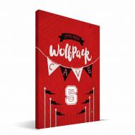 "North Carolina State Wolfpack 8"" x 12"" Little Man Canvas Print"