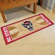 North Carolina State Wolfpack Basketball Court Runner Rug