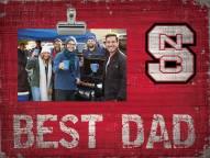 North Carolina State Wolfpack Best Dad Clip Frame