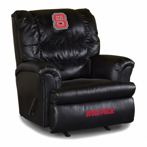 North Carolina State Wolfpack Big Daddy Leather Recliner