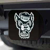 North Carolina State Wolfpack Black Matte Hitch Cover
