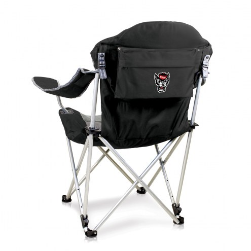 North Carolina State Wolfpack Black Reclining Camp Chair