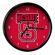 North Carolina State Wolfpack Black Rim Clock