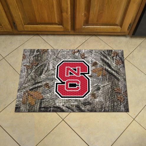 North Carolina State Wolfpack Camo Scraper Door Mat