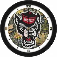 North Carolina State Wolfpack Camo Wall Clock