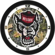 North Carolina State Wolfpack Camo Wall Clock