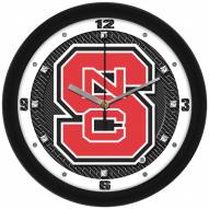 North Carolina State Wolfpack Carbon Fiber Wall Clock