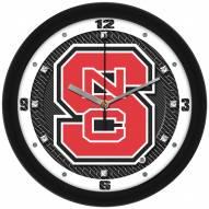 North Carolina State Wolfpack Carbon Fiber Wall Clock