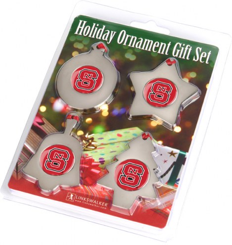 North Carolina State Wolfpack Christmas Ornament Gift Set