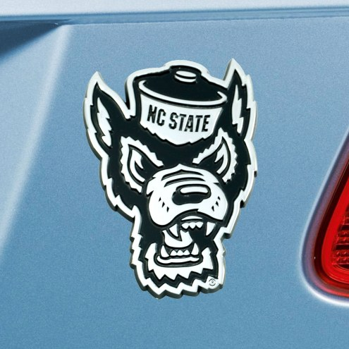 North Carolina State Wolfpack Chrome Metal Car Emblem