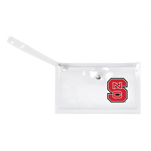 North Carolina State Wolfpack Clear Ticket Wristlet