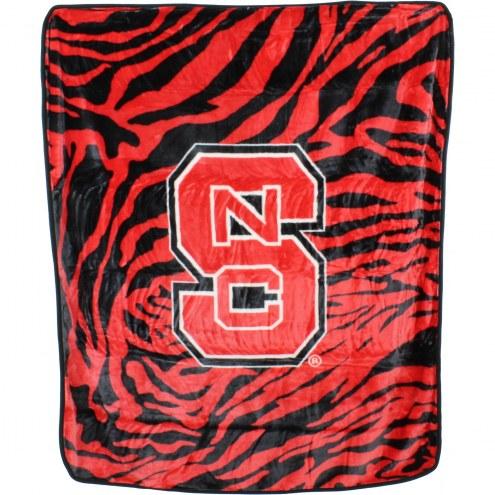 North Carolina State Wolfpack Raschel Throw Blanket